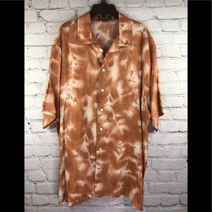 Murano men's loo% linen short sleeve shirt size XL